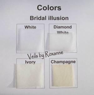 white, diamond white, ivory or champagne bridal illusion veils