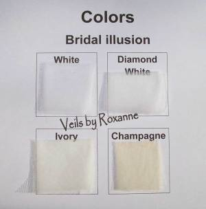 Color for bridal illusion veils