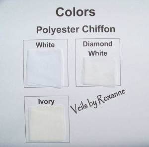 White chiffon veil, diamond white chiffon veil, ivory chiffon veil