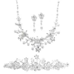 save by ordering both silver tiara and jewelry set