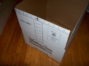 Box to ship your dress to Wedding Gown Preservation Co.