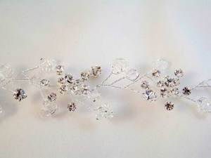 Tiara hair vine with crystals and rhinestones