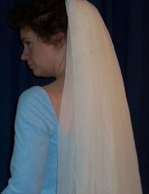 elbow chiffon veil