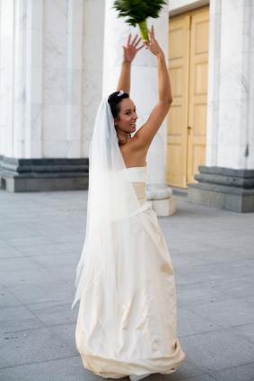 2 tier waltz length chiffon veil