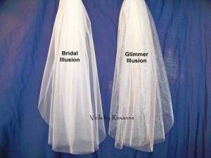 Illusion veil in matte or sparkle
