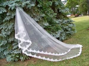 blusher veil royal mantilla