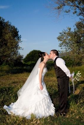 A waltz veil is knee length