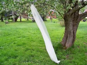 Ivory silk chiffon veil