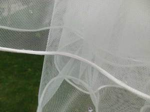 Satin cord edge wedding veil