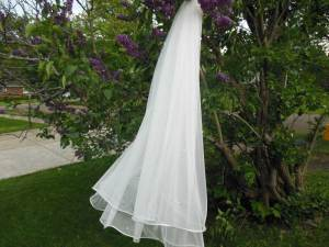 wedding veil of English net