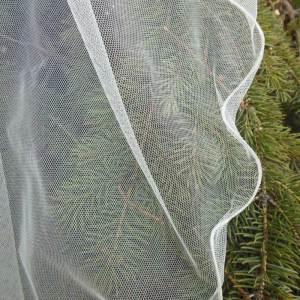 English net veil with lettuce edge