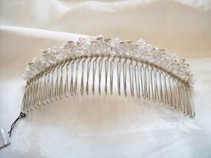 Back view of tiara comb