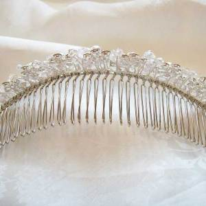 Back view of tiara comb