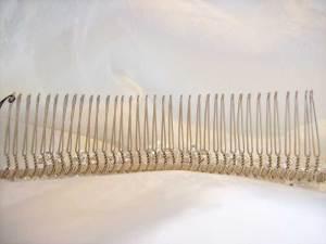 View of wedding comb teeth
