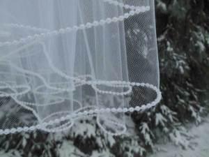 pearl edge blusher veil