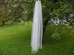 illusion rhinestone edge veil