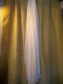 Silk Chiffon Waltz length Veil