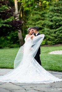 144 inch long romantic veil at full width