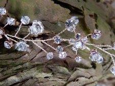 rose gold hair vine crystals