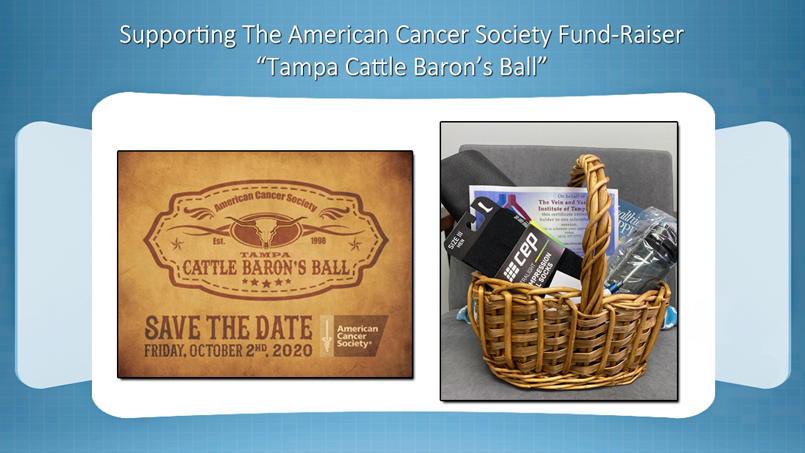 The Vein and Vascular Institute Supporting American Cancer Society Fund Raiser Tampa Cattle Barons Ball