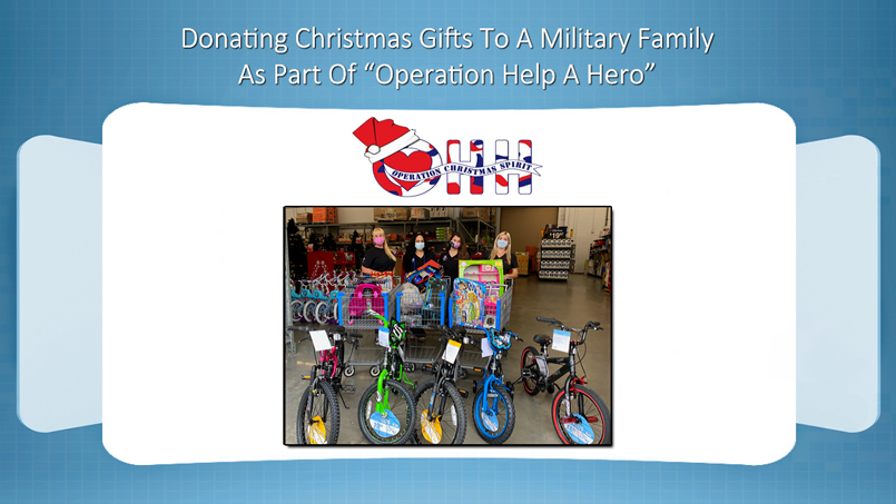 The Vein and Vascular Institute Donating Christmas Gifts To Military Family
