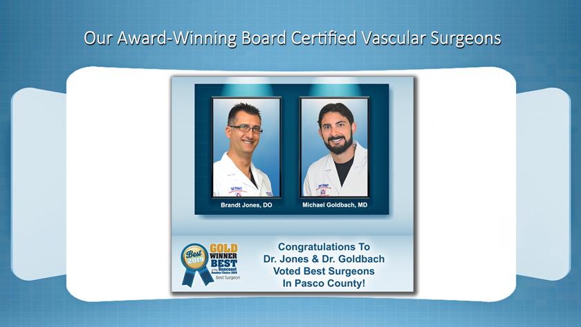 Brandt Jones Spring Hill Florida Board Certified Vascular Surgeon Best Surgeon Award 2019