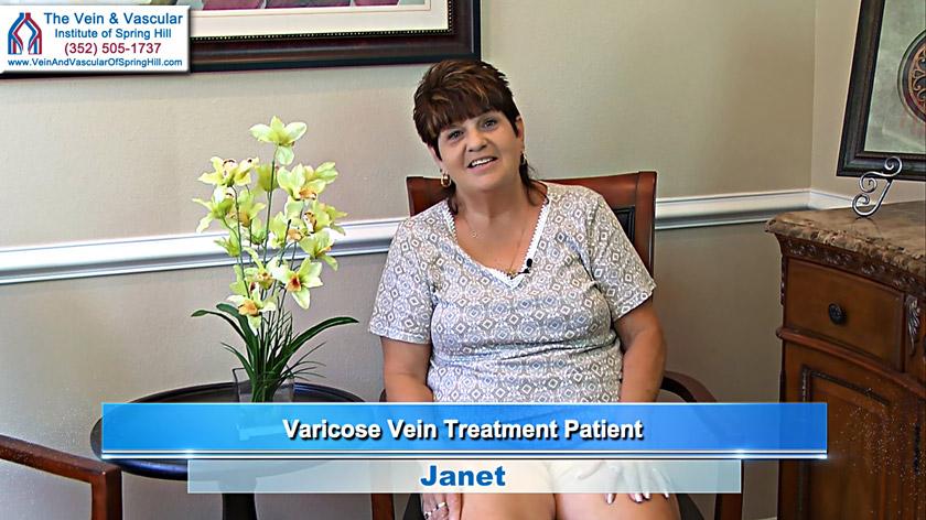 Spring Hill Varicose Vein Surgery Patient