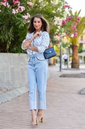 suncoo paris bluse mom jeans