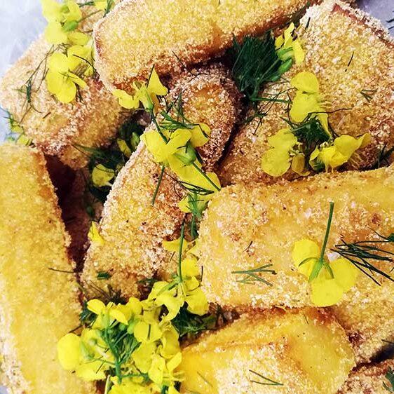 Polenta Fritter (friteret polenta)