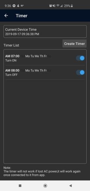 Magic Home App Nexlux LED Lights Review Timer