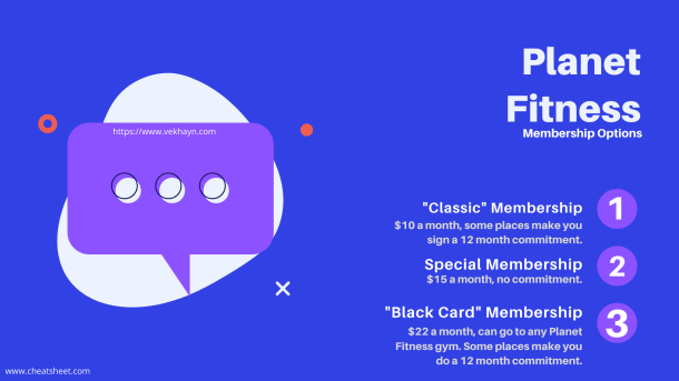 Planet Fitness Membership options from https://www.vekhayn.com and www.cheatsheet.com