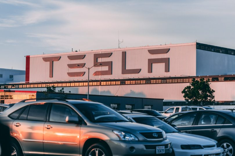 Tesla factory - strangely enough many of the workers there don't seem to own a Tesla. Maybe they are searching up how to afford a tesla, too? Does this mean they're getting underpaid?