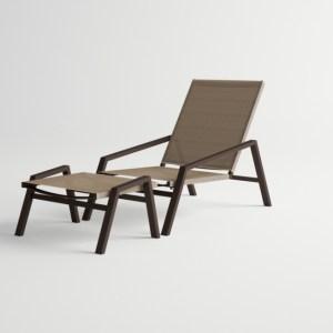 Pulvis Lounge Armchair / Pulvis Foot Stool