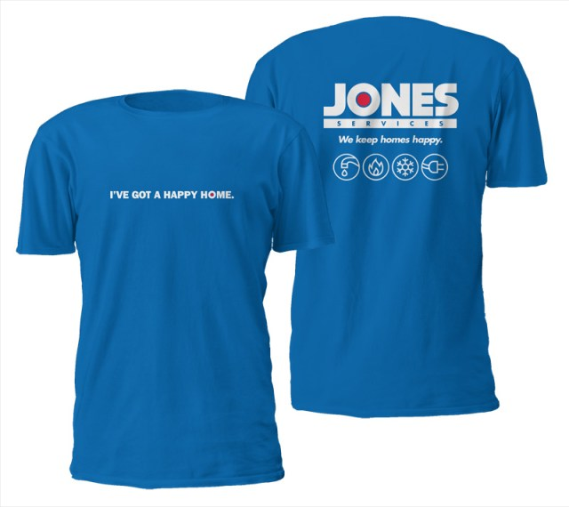 Jones customer t-shirt