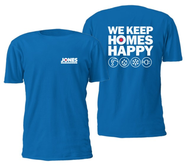 Jones employee t-shirt