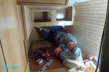 AchterKabineJuni Achterkammer Ausbau 2016 innenausbau  Segelboot Reinke Euro Einrichtung Arbeiten 2016 Achterkammer