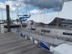 Unser Segelboot vor Hurrikan Florence am 13.09.2018 in Georgia