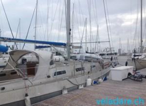 unser Segelboot vela dare vor Hurrikane Michael