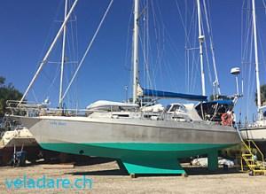 Wartungsarbeiten an unserem Segelboot