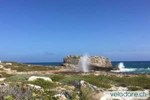 Blow Hole in Black Point, Exumas, Bahamas