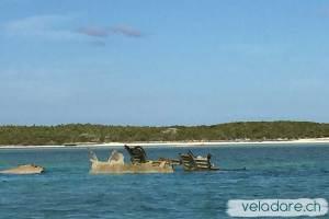 l'épave d'avion de Normans Cay, Exuma, Bahamas