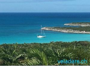 Unser Segelboot vela dare in den Jumentos Inseln