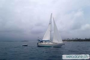 vela dare zwischen Nargana und Holandes Cays (Bild von Magali von Pukeko)
