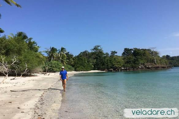 une dernière ballade sur une plage déserte de Las Perlas