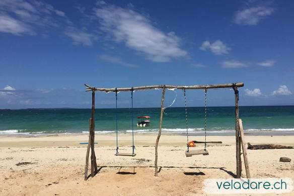 Strand vor dem Hotel von Isla Viveros, Las Perlas, Panama