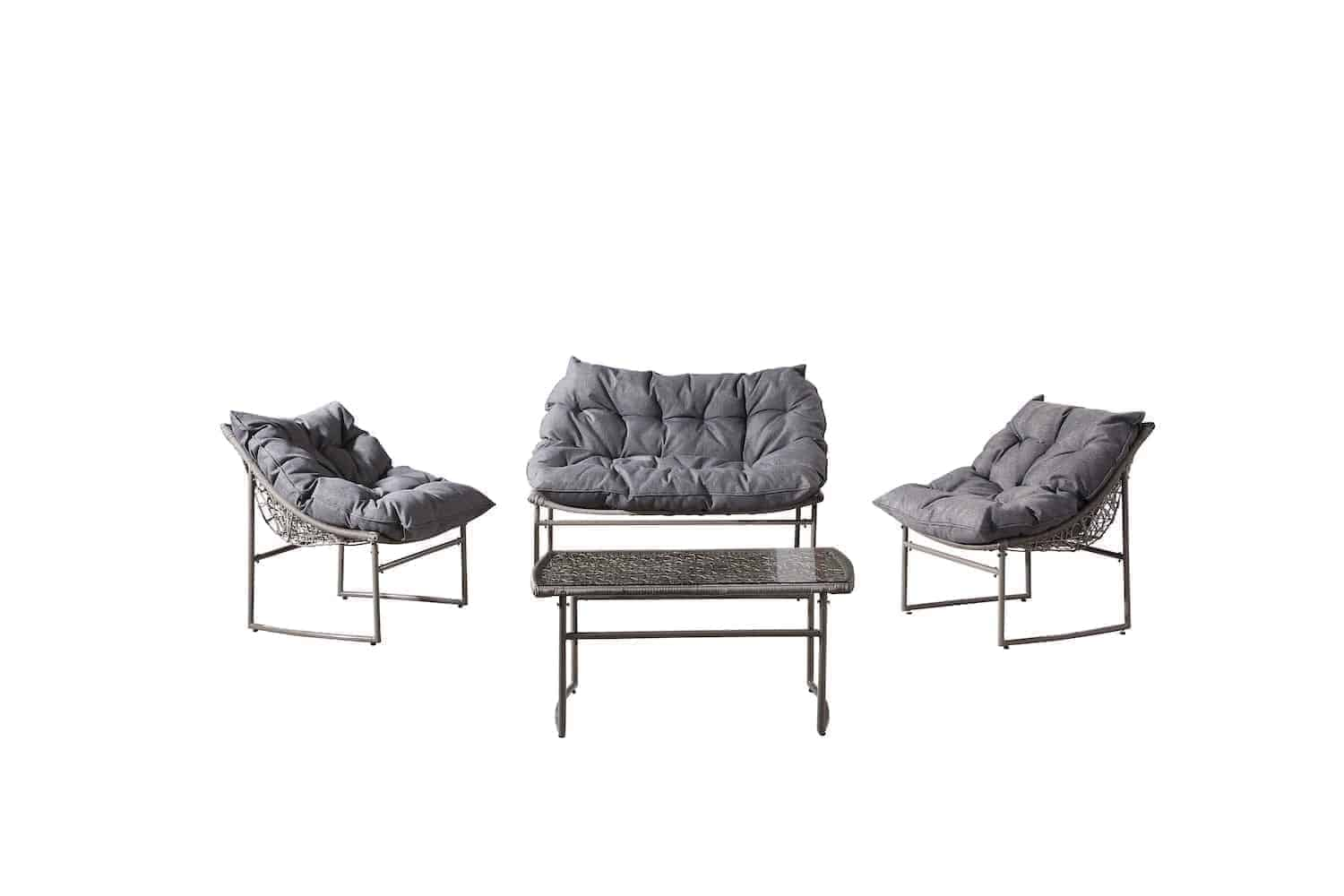 Outdoor Conversation Set For 4 With Uber Fluffy Cushions