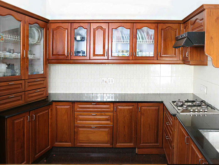 New model kitchen cabinets in kerala for New model kitchen