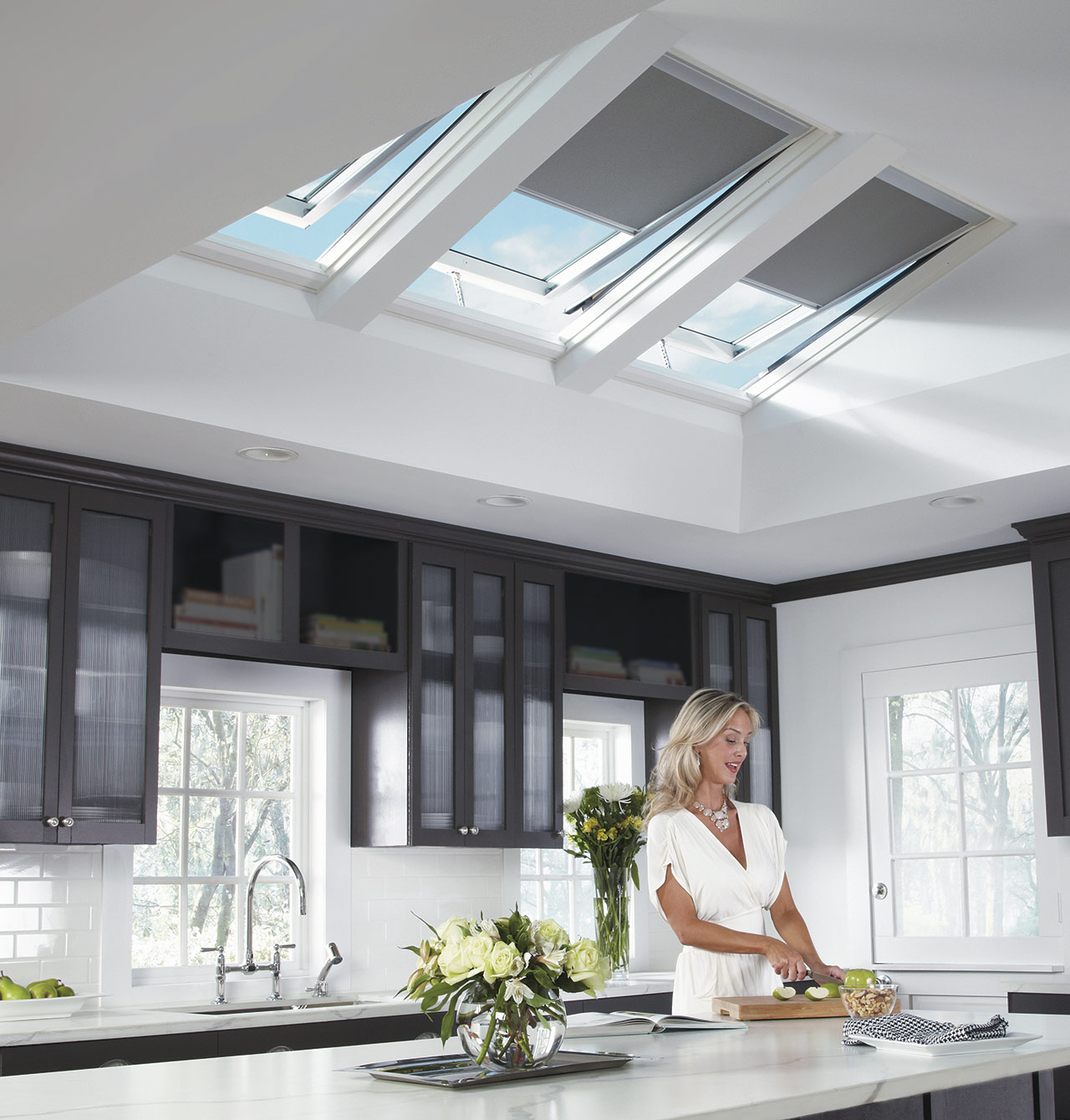kitchen skylights cabinet storage solutions gallery velux solar powered in