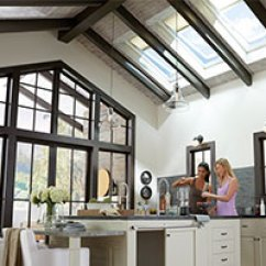 Kitchen Skylights Wood Countertops Velux Filled The With Daylight And Fresh Air