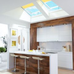 Kitchen Skylights Where To Buy Cabinets Velux Solar Powered Fresh Air And Blinds Filled The With Daylight